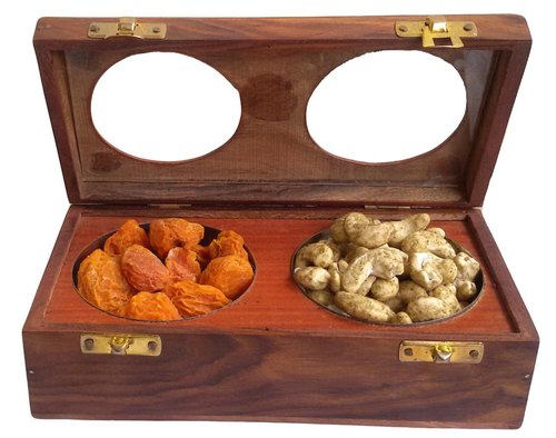 Wood Brown Wooden Dry Fruit Box, for Gift