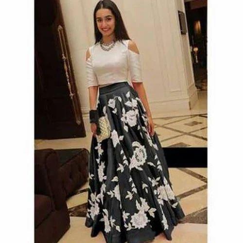 Party Wear Printed Ladies Fancy Indo Western Lehenga Rs 370 Piece Id 18325618873