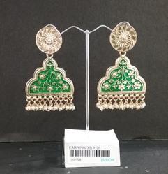 Antique Meenakari Hanging Earrings
