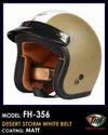 Desert Storm White Belt Helmet