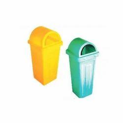 Yellow And Green Garbage Bin