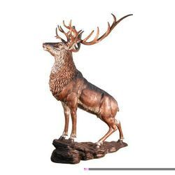 Decorative Metal Deer Statue, Size: 12 inch