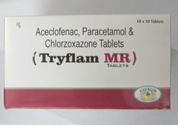Aceclofenac, Paracetamol And Chlorzoxazone Tablets