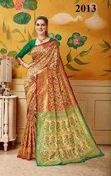 Distinguished Silk Zari Work Party Wear Saree