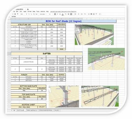Sld, Cable Layout, La/Earthing Layout, Bom & Pvsyst Report For Solar