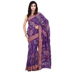 Bandhani Lavender Print Saree