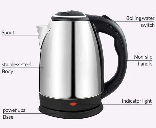 Electric Tea Kettle Capacity 1.8L, 220V - 240V