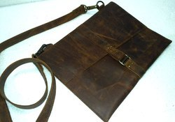 Vintage Leather Tablet Messenger Bag