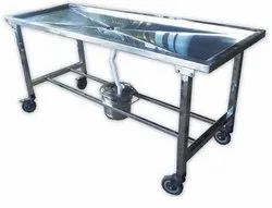 White Standard Steel Anatomy Dissection Table