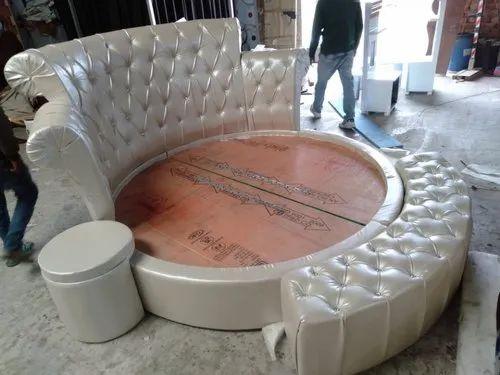 Shri Balaji Furniture King Size 6, Round Queen Size Bed
