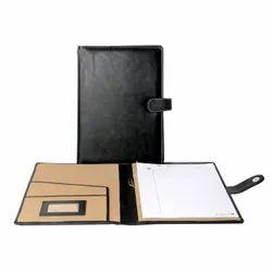 Black Rectangular Leather Conference File Folder, Packaging Type: Carton