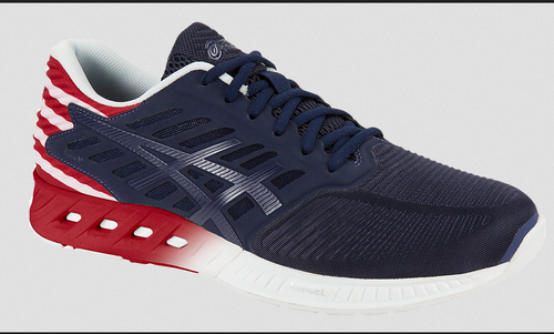 43ac1785d9a3 Women Indigo Blue true Red white Asics FuzeX Countrypack Running Shoes