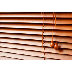 Brown Teak Wood Wooden Blind