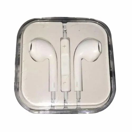 White Rubber Mobile Headphone, Packaging Type: Box