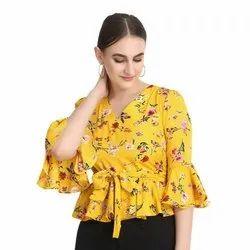 Ladies Rayon Printed Top