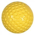 PU Dimple Cricket Ball- Yellow