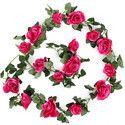 Artificial Rose Flower Ivy Vine Leaf Garland