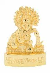 Golden Laddu Gopal Statue