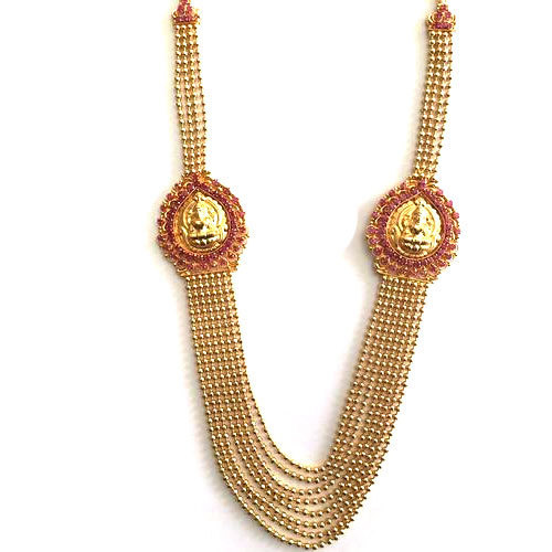 Ruby stone gold plated long necklace at rs 900 piece religious ruby stone gold plated long necklace aloadofball Images