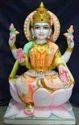 Pashan Kala White Marble Lakshmi Statue, For Worship, Size: 12 To 66 Inch