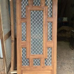 Sagwan Fancy Wooden Jali Doors