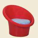 H 630 X W 700 X D 735 Cm Red Tub Plastic Chair