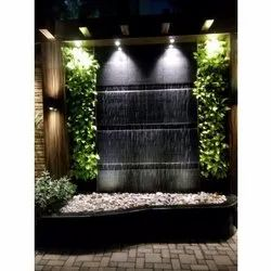 Brown Stone LED Indoor Fountain Waterfall, For Home