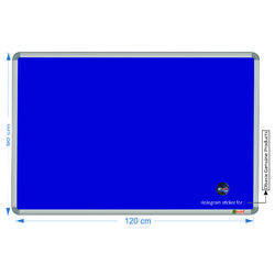 Spbb90120 Blue Notice Board