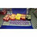 Party Wear Chanderi Silk Saree, Machine Made, 5.5 m (separate blouse piece)