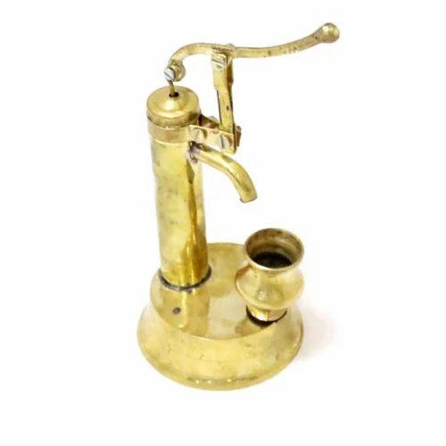 Full Brass Metal Hand Pump, Size: 9x2x4.5 Inch