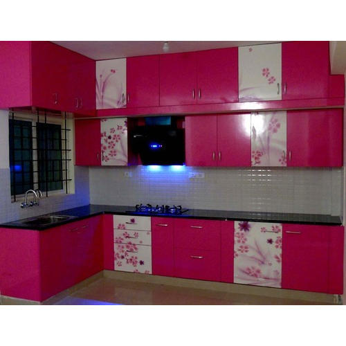 Royal Kitchen Design: Pink Digital Laminated Modular Kitchen, Rs 1350 /square
