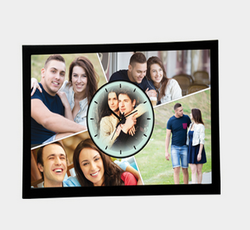 Wall Clock Photo Collage, Size: 44 X 31 CM
