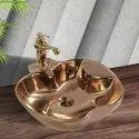 Deck Mounted Copper Designer Imported Basin