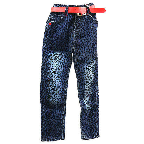 Boys Blue Printed Jeans
