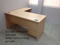 Office Main And Side Unit L Shaped Table