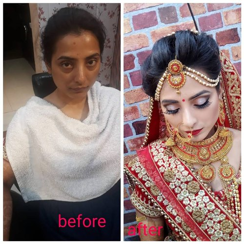 Skin Whitening 1 Before After Makeup