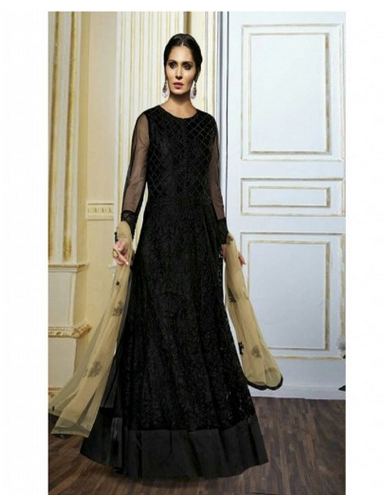 45297ca6df Party Wear Gorgeous Black Net Designer Salwar Kameez, Rs 4330 /piece ...