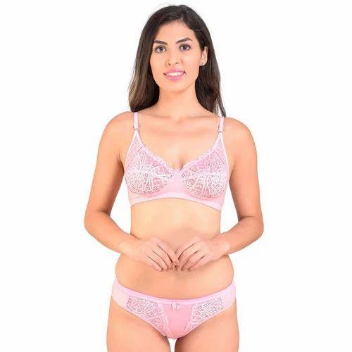 f9b295e408191 Lexina Cotton Ladies Fancy Net Bra Panty Set