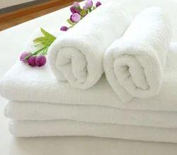 Cotton White Hand Towel - Plain