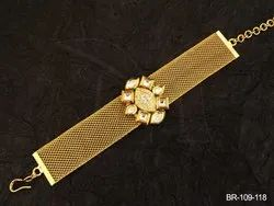 Brass / Copper Manek Ratna Bollywood Kundan Bracelet