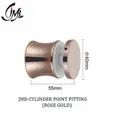 Stainless Steel Rose Gold Cylinder Point Fitting