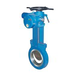 Multi Turn Electrical Actuator Operated Knife Gate Valve