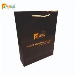 Metallic Color Printed Paper Bag With Metallic Rope Handle