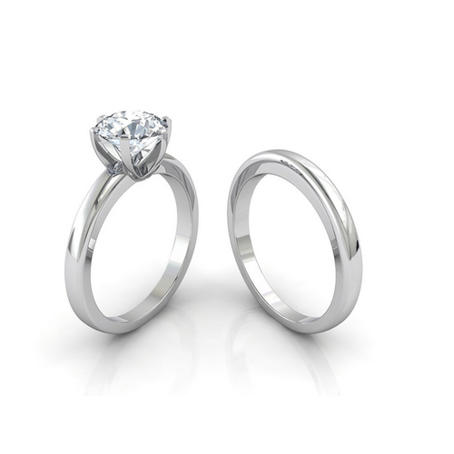 2cae25f4dc89f Crystal Platinum Plated Couple Rings