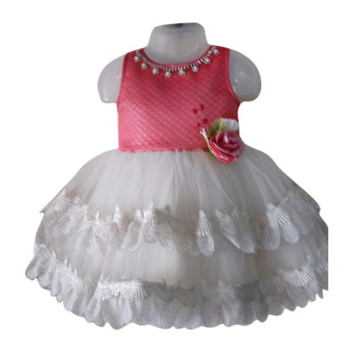e0d28b2c75b6 Red And White Casual Wear And Festive Wear Baby Girl Frill Frock