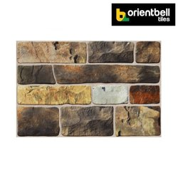 Orientbell OEM PAVIA BROWN Exterior Wall Elevation Tiles, Size: 300X450 mm