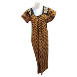 Ladies Cotton Half Sleeves Maxi, Size: S - XL