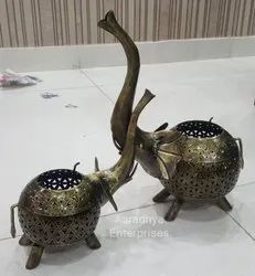 Home Decor Iron Handicrafts Elephant Pair