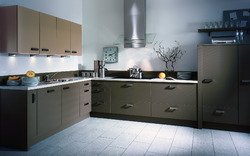 L Shaped Kitchen Solid Surface
