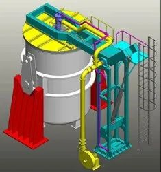 Horizontal Preheating Station for Steel Casting Ladles